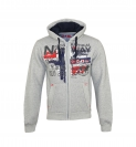 Geographical Norway GETCHUP Sweatjacke Hooded Zip Jacket B-Grey W20-GNC