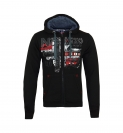 Geographical Norway GETCHUP Sweatjacke Hooded Zip Jacket Black W20-GNC